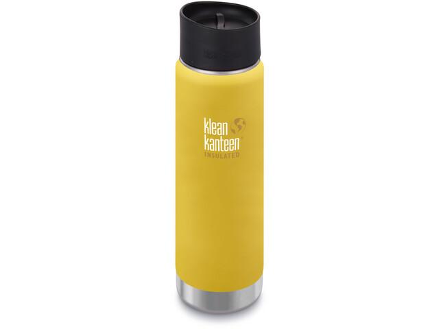 Klean Kanteen Wide Vacuum Insulated Gourde Bouchon Café 2.0 592ml, lemon curry matt